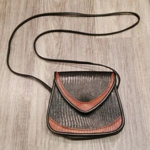 Handbags - Small Coated Leather Crossbody Purse